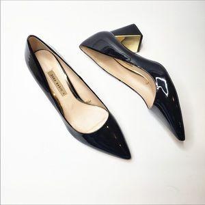 Zara Black Patent Lether heels